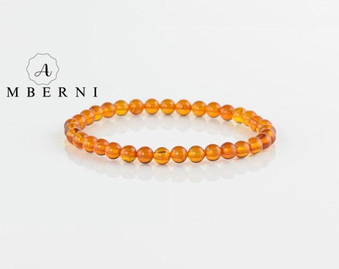5,5 mm Round Amber Bracelet