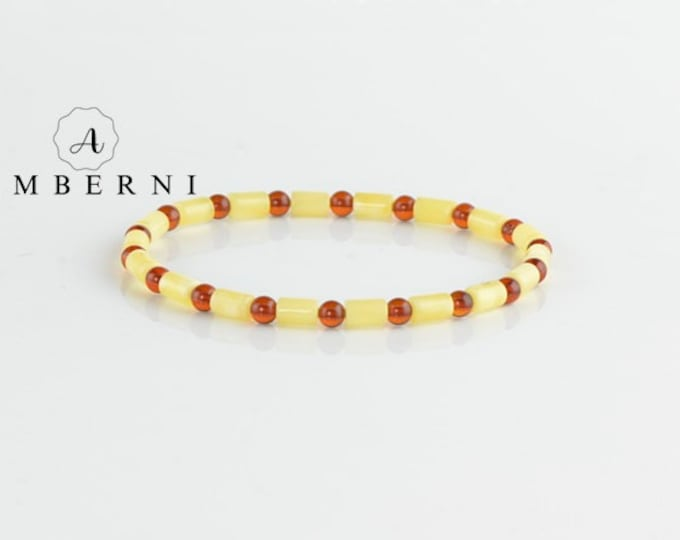 Matt Cognac Color Amber Bracelet