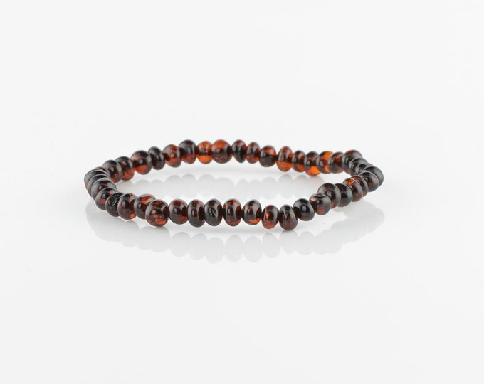 Baltic amber bracelet, Baroque amber beads, 6235