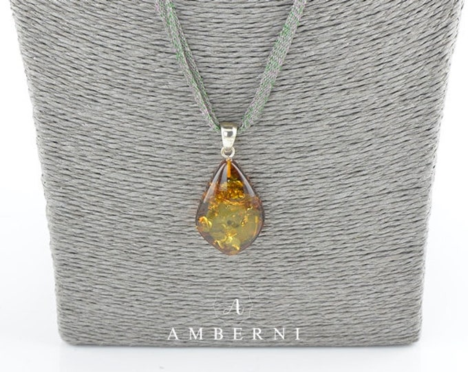Baltic amber pendant, Baltic amber, Amber pendant, Unique piece, 7801