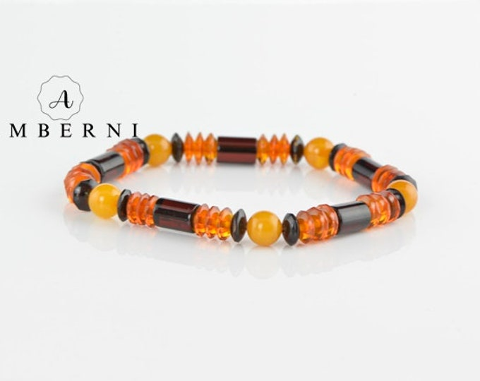 Baltic Amber Bracelet for Men
