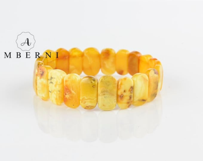 Natural Baltic Amber Bracelet Gift Idea