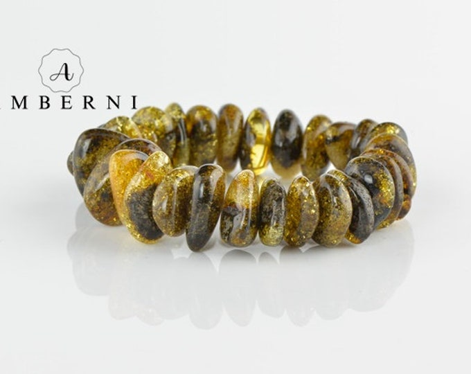 Large Massive Baltic Amber Bracelet