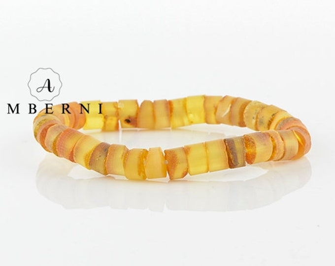 Raw Yellow Baltic Amber Bracelet