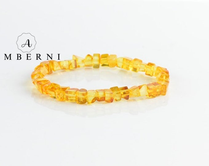 Natural Yellow Amber Bracelet