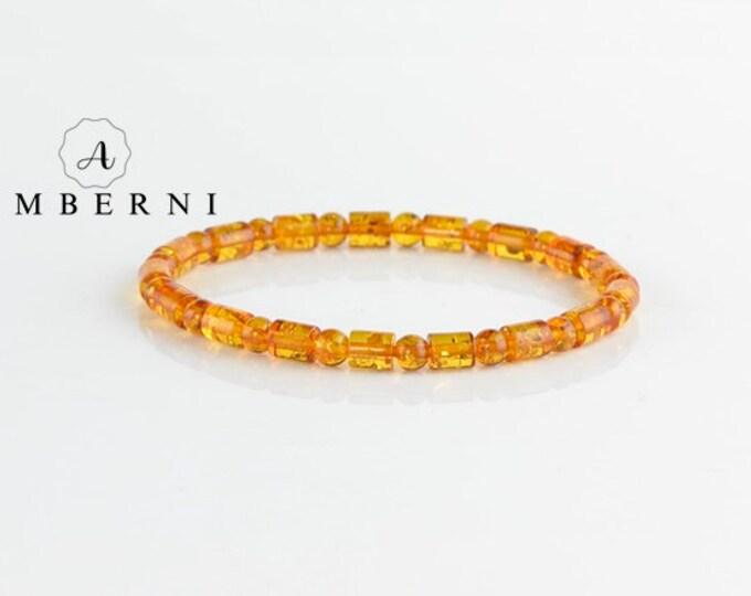 Baltic Amber Bracelet Cognac Color