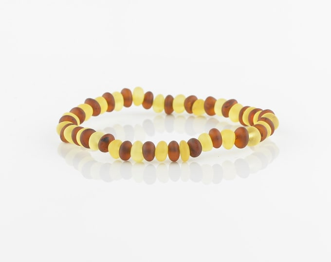 Baroque Baltic amber bracelet for women or girls, Natural amber, 6181