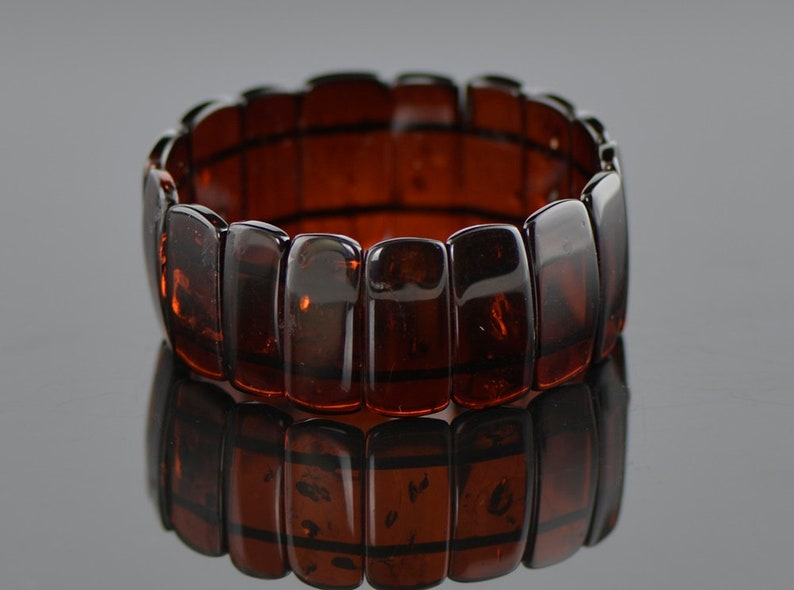 Red Baltic amber bracelet Red amber natural amber bracelet Cherry amber color beads Baltic amber