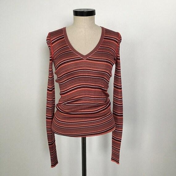 Vintage-Dolce & Gabbana-Long Sleeve Knit V-Neck To