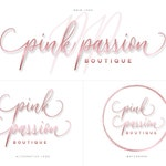 Rose Gold Pre-made Logo Watermark Design Business Branding Kit Beauty Blog Boutique Makeup Artist Customized For Your Business