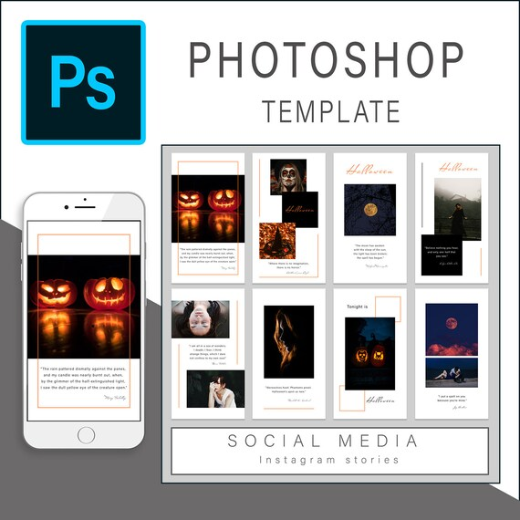 Instagram Story Photoshop Template Instagram Story Templates Etsy