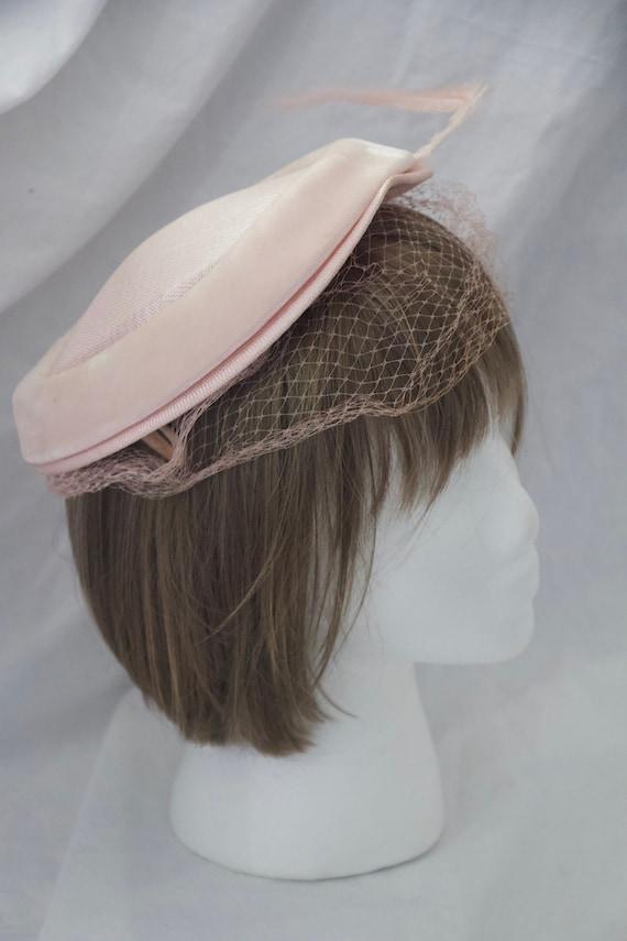 Vintage Women's 1950s Pink Juliette Cap Style Hat