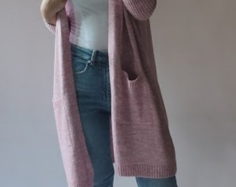 Neueste Hollister Textured Oversized Strickjacke Pullover