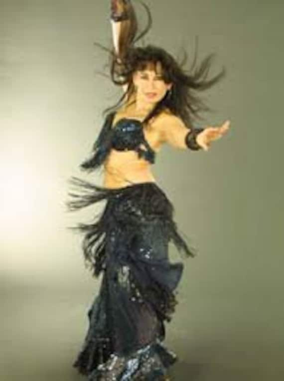 Hand made vintage oriental belly dance costume, ci