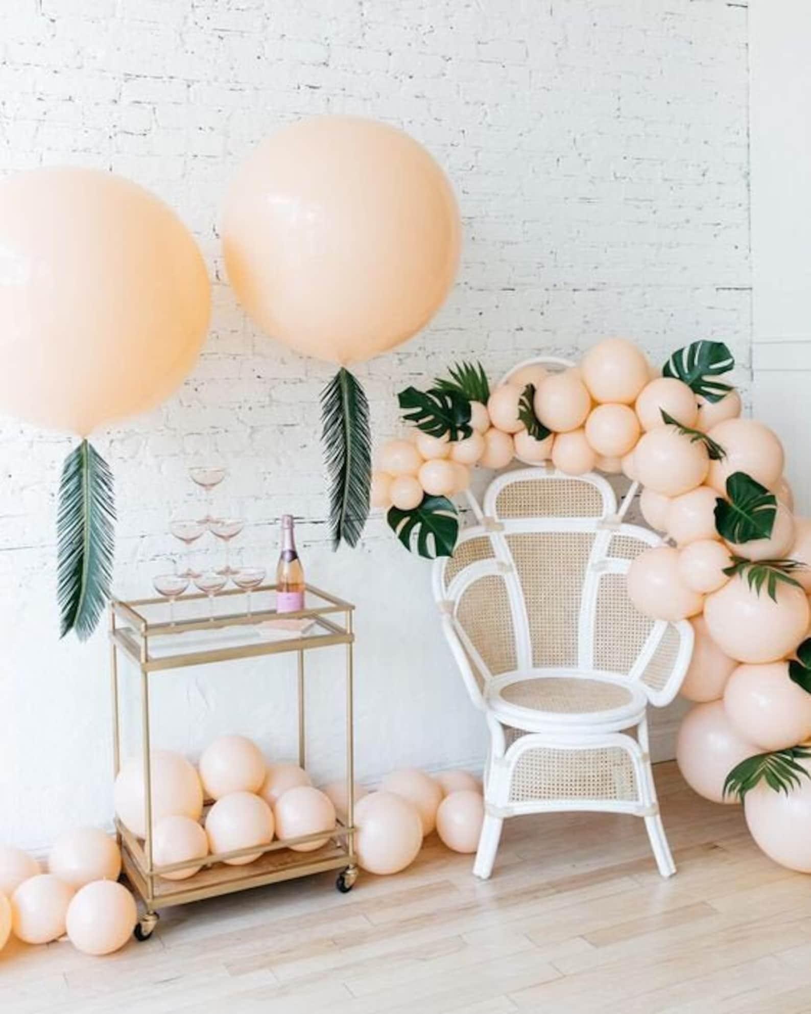 Ballons Hochzeit Apricot