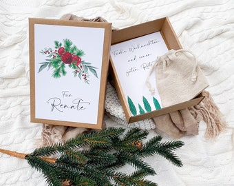 Gift Box Fir Red Christmas Money Gift Personalized