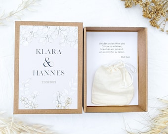Gift box BOHO Money Gift Wedding
