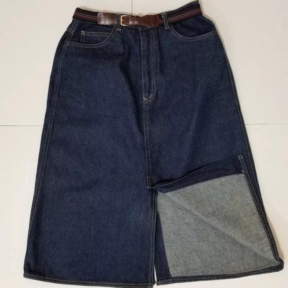 Vintage 1970s N'est Ce Pas Denim Skirt