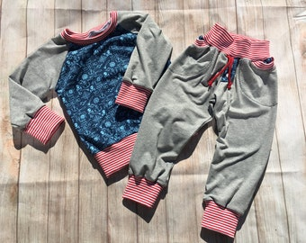 Children's long sleeve shirt and pants, single or in set, size 86/92