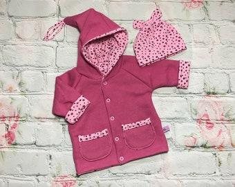 Baby jacket/turning jacket with cap, size 62-68