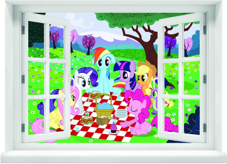 Window With A View My Little Pony Spring Wall Mural