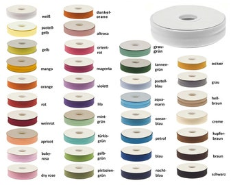 0,70 EUR/Meter - 20 m Inclined tape plain 20 mm wide folded Edging tape Color choice