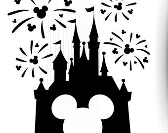 photo regarding Free Printable Disney Silhouettes called Disney silhouette Etsy