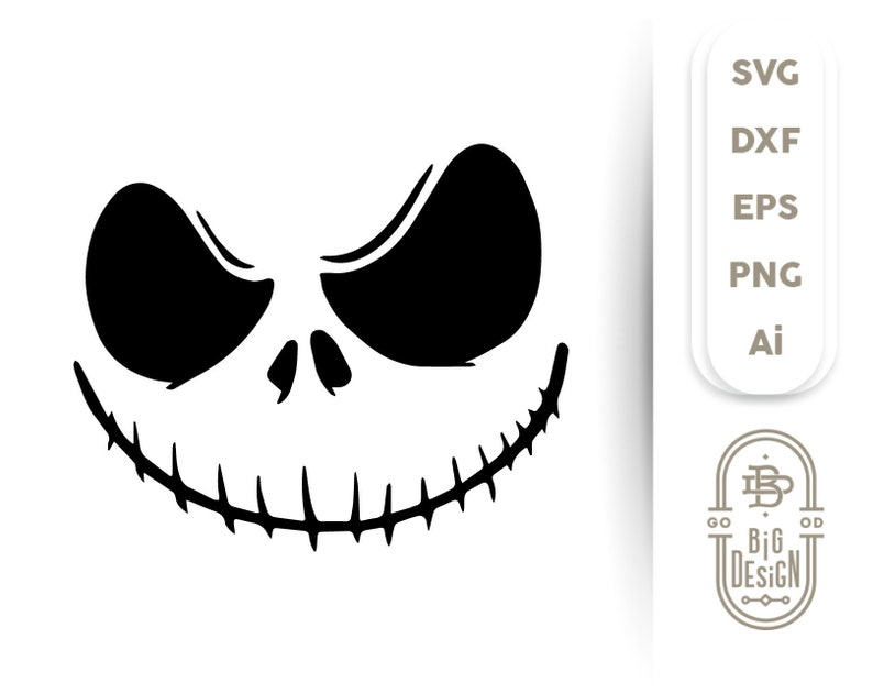 Jack Skellington Svg Nightmare Face Svg Jack Skellington Etsy