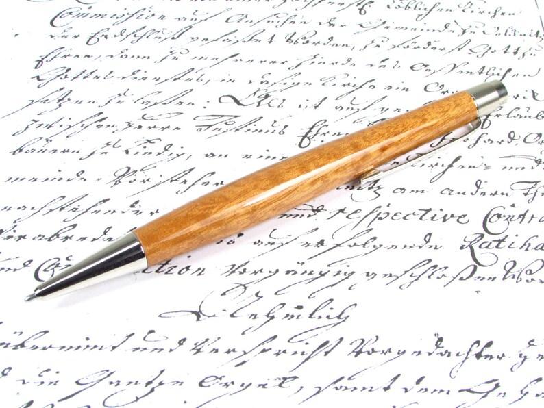 Hand crafted ballpoint pen Berlin Tigerwood #20