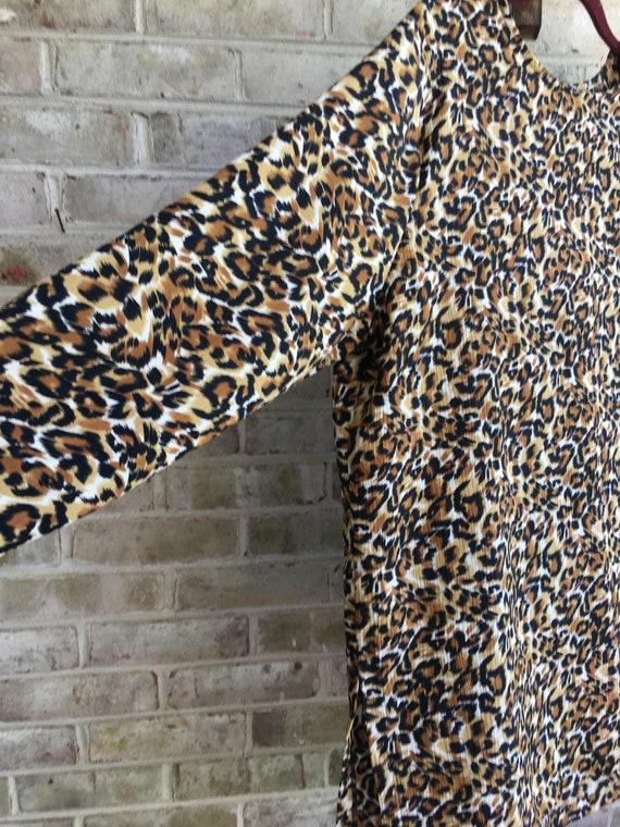 1980 Vintage Leopard Print Blouse