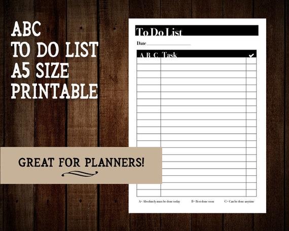abc to do list printable a5 abc to do list abc to do list etsy