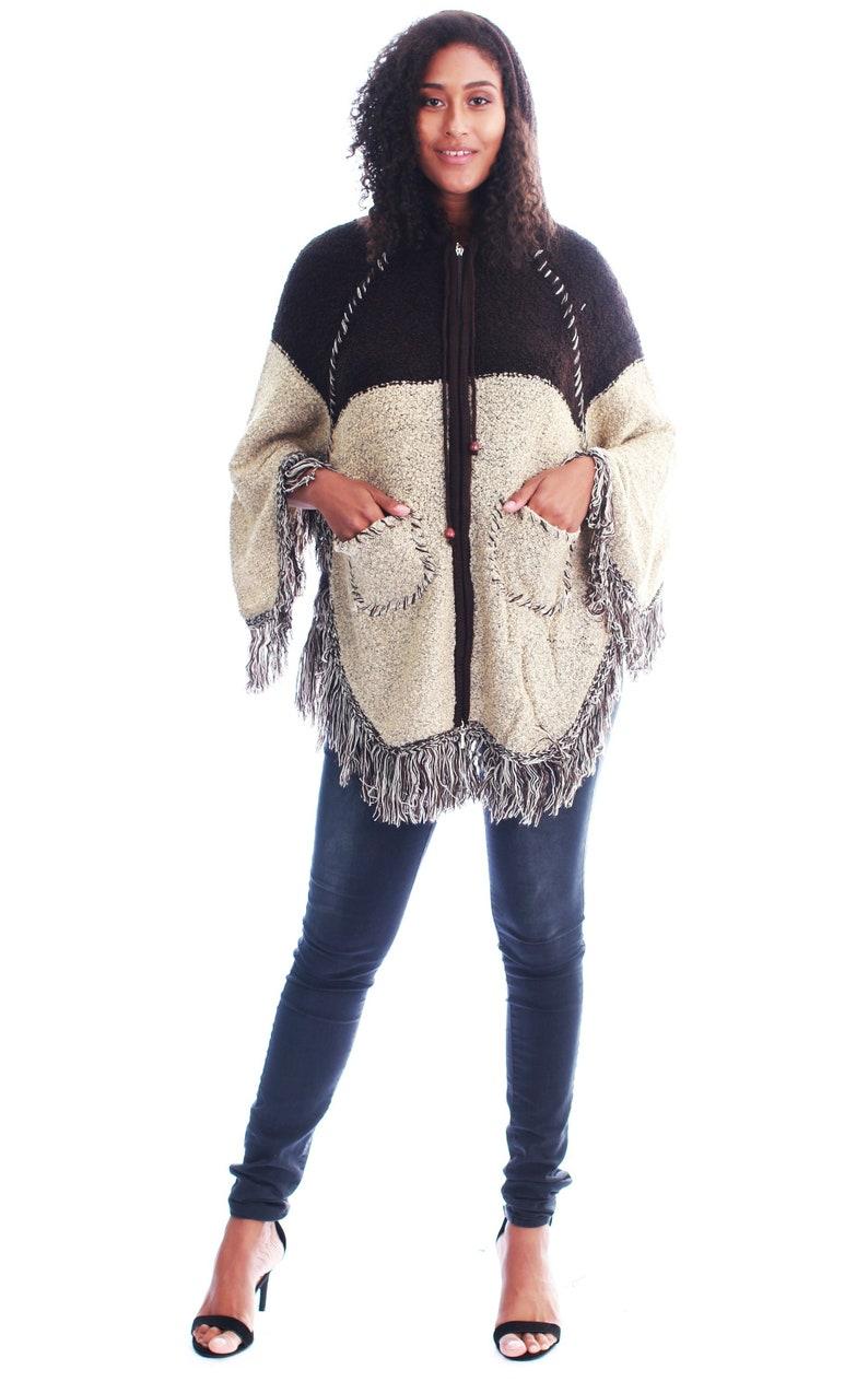 f834c21df Women's Lightweight Cape-Style High Quality Winter Poncho Coat Long  Cardigan Sweater Coat