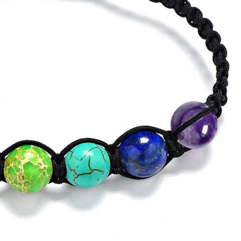 Adjustable Multi-Color Chakra beads  Bracelet