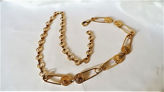 gold vintage metal belt safety pins,chain belt,jew