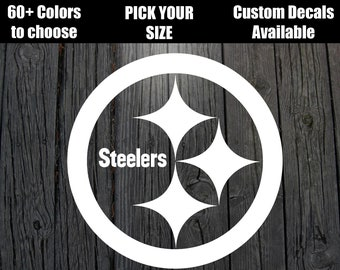 """PITTSBURGH STEELERS STARS WINDSHIELD DECAL STICKER 40/"""" x 4/""""  ANY 1 COLOR"""
