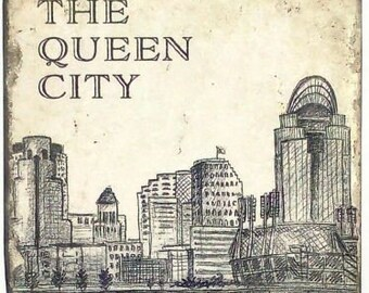 The Queen City Skyline Marble Coaster