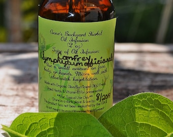 Comfrey Oil Infusion (Symphytum officinale) for Skincare to promote new cell growth, reduce inflammation, bug bites, bones & aid in healing