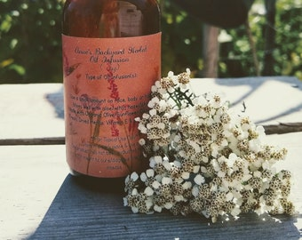 Yarrow Oil Infusion to help with Cuts, Bleeding, Hemorrhoids, Antiseptic, Ointment, Soothing Skincare & Carrier Oil