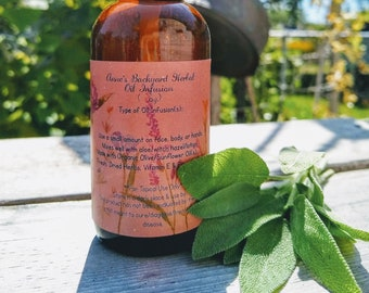 Sage Skincare Oil to help w/ Circulation, Detox, Cellulite, Pain, Baldness, Ointment, Reduce Wrinkles, Acne, Psoriasis, Eczema and Brightens