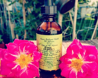 Rose Oil Infusion for Skincare Face & Body for Reducing Redness, Acne, Dryness, Inflammation, Soothes, Moisturize Tissue