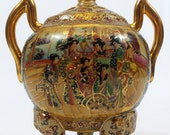 Ornate Satsuma-Styled Tripod Censer