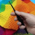 Ebony (Black) Streamline Wooden Crochet Hooks by Furls -Sizes 3.75mm - 10mm ~ Don't Let Pain Stop Your Artistic Flow! USA Made
