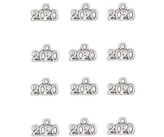 12 2020 charms antique silver tone PT153