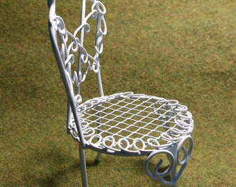 Mini Garten Metall Stuhl, Garten Miniaturen 2