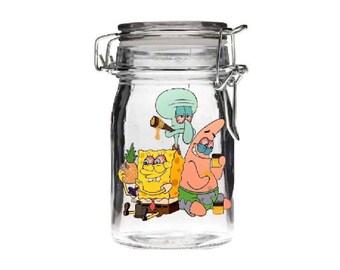 Cannabis Jar Custom Engraved 3 Marijuana Leaf Stoner Jar Etsy