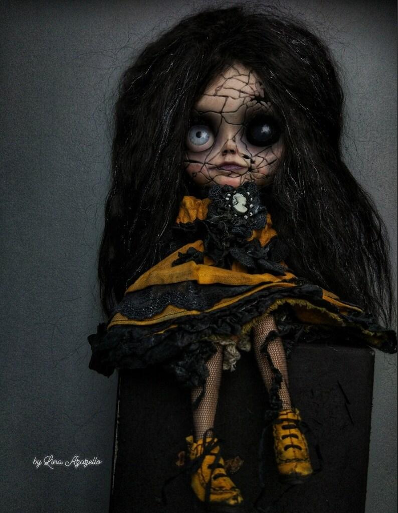 Esmeralda SOLD OUT Blythe Doll OOAK / Scalp wool reroot image 8