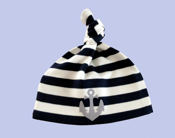 Maritime Baby Hat Anchor - Fair Trade & Organic - Baby Hat Anchor, Baby Gift for Birth