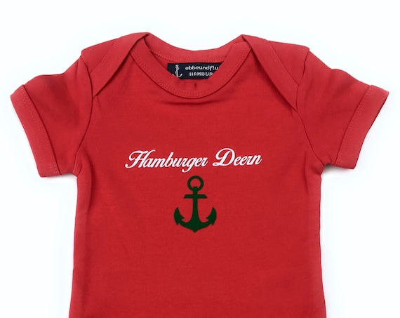 Maritime Baby Body Hamburger Deern - Fair Trade, Baby Gift for Birth, Hamburg Gift, Anchor, Starboard