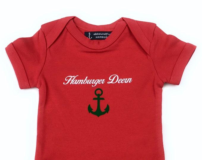 Maritime Baby Body Hamburger Deern - Fair Trade, Baby Gift for Birth, Hamburg Gift, Anchor, Starboard