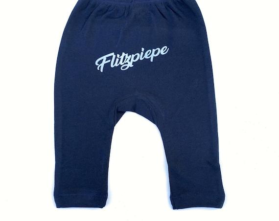 Flashpebaby Baby Pants Dark Blue - Fair Trade & Organic, Baby Gift at Birth, Baby Gift Boy, Berlin, Berlin Saying, Berliner Jung